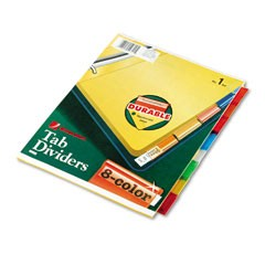 INDEX DIVIDER 1-12 DIF. COLOR (UNIOFFICE)