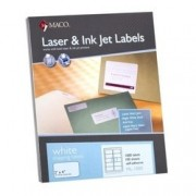 "LASER LABEL 2""X 4"" BLANCO ML-1025 (WESTERN PAPER)"