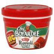 MW BEEF RAVIOLI 12 / 7.50 oz. chef boyardee 04709 (V. SUAREZ) 005360006